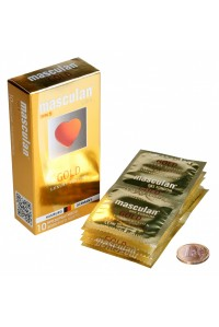 Презервативы Masculan тип 5 (ЗОЛОТОГО ЦВЕТА) с ароматом ванили 10 шт.
