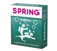 Презервативы SPRING Bubbles с пупырышками