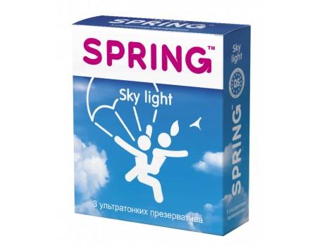 Ультратонкие презервативы SPRING Sky Light с ароматом ванили (3 шт)