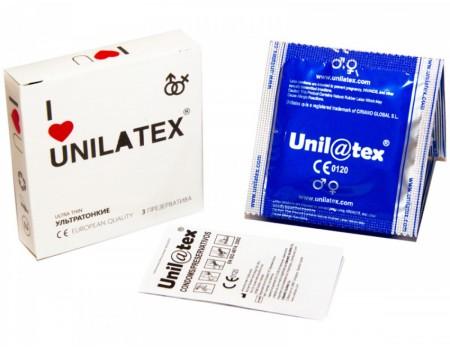 Презервативы UNILATEX ультратонкие (3 шт)