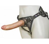 Страпон с кожаными трусиками Harness