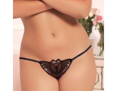 Трусики-бабочка черные Q