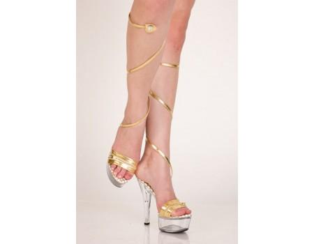 Туфли прозрачные золотые 39