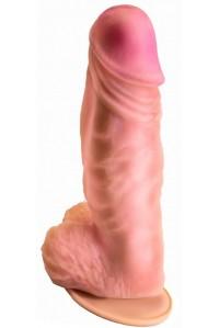 Фаллоимитатор-гигант неоскин на присоске