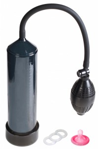 Черная вакуумная помпа с эрекционным кольцом Discovery Racer