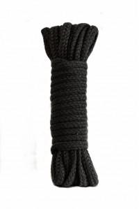 Черная веревка для связывания Bondage Rope Black (9 м)