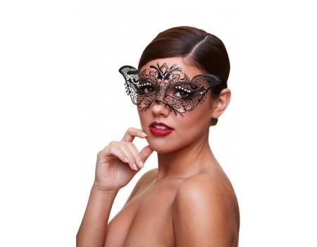baci-masq-5 | Черная маскарадная маска со стразами Masq Madame