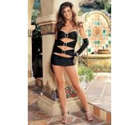 Черное откровенное мини-платье