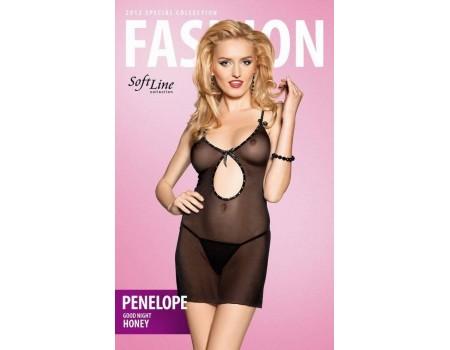 softline-102017mlb | Черное сетчатое платье со стразами ML