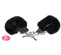 Черные меховые наручники Furry Cuffs Fetish