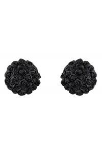 Чёрные пестисы с розочками Lucky Nipple Covers SL